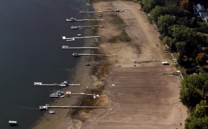 The Minnesota DNR reported that White Bear Lake reached its lowest level ever in January 2013. (Source: http://www.mprnews.org/story/2013/07/01/white-bear-lake-levels, Photo by Jeffrey Thompson)